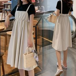 Empressa - Maternity Midi A-Line Jumper Dress / Short-Sleeve T-Shirt / Set