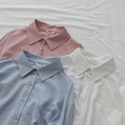 Tomato Shop - 纯色宽松衬衫