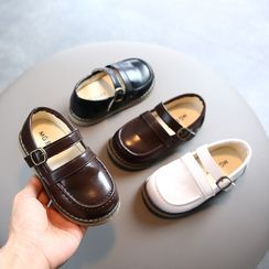 Doradas - Kids Faux-Leather Belted Round-Toe Shoes