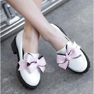Freesia - 厚底蝴蝶結樂福鞋