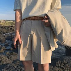 MRCYC - Plain Straight-Cut Shorts