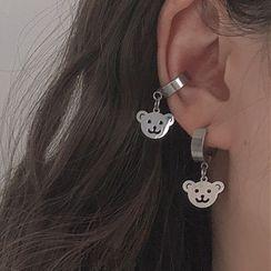 Studio Nana - Alloy Bear Cuff Earring