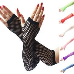 Planezza - Fishnet Fingerless Gloves