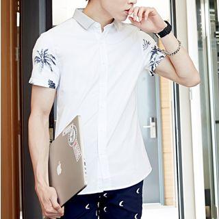 AMPO - Print Short Sleeve Shirt