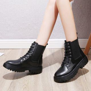 Vindler - 繫帶厚底短靴