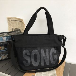 EAVALURE - Lettering Canvas Shoulder Bag