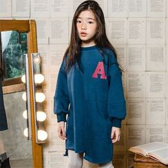 Cynanne - 親子裝字母印花套衫連衣裙