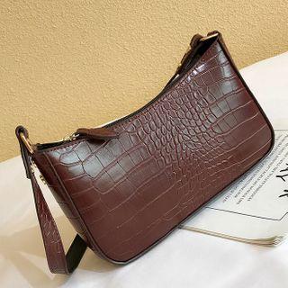 Road to Love - Croc Grain Handbag