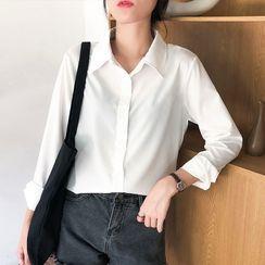 HYAKU - 长袖雪纺衬衫