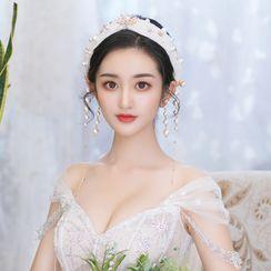 la Himi - 套装: 婚礼仿珍珠头箍 + 耳坠