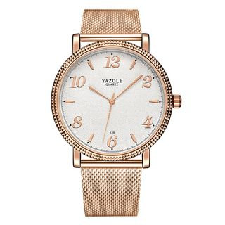 YAZOLE - Couple Matching Stainless Steel Strap Watch