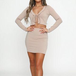 maplerain - 套裝: 短款薄外套 + 鉛筆裙