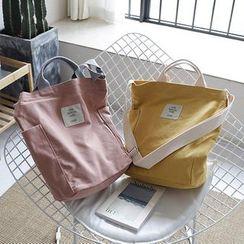 Ms Bean - Applique Canvas Crossbody Bag