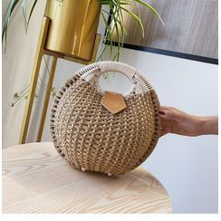 OLGALOG - Woven Round Handbag