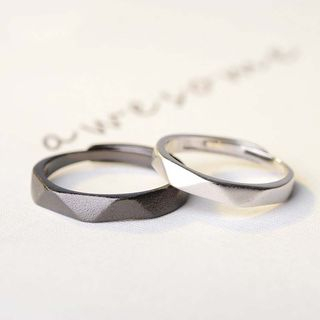 Tenri - 925 Sterling Silver Couple Matching Ring