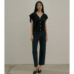 MAGJAY - V-Neck Button-Up Sweater Vest