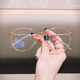 MOL Girl - 防藍光圓形金屬眼鏡