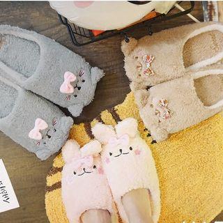 Yunikon - 毛絨飾動物拖鞋 (多款設計)