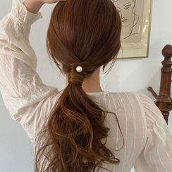 Jewifair - Faux Pearl Spiral Hair Stick