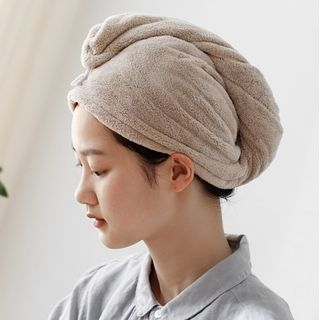 Lazy Corner - Coral Fleece Hair Drying Towel