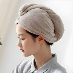 懒角落 - 珊瑚绒干髪毛巾