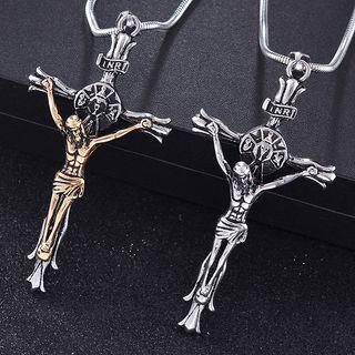 Soosina - Stainless Steel Cross Pendant Necklace