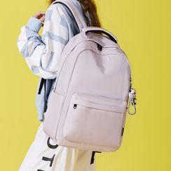 Bag Hub - 純色尼龍背包