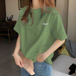 Edise - 刺绣短袖T裇