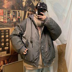 MIKAEL - Hood Padded Bomber Jacket