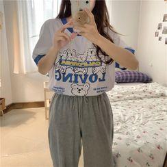 PINPI - Short-Sleeve Print T-Shirt
