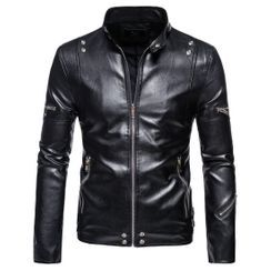 Sheck - Faux Leather Zip Jacket