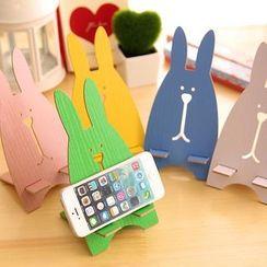 Eteum - 木製小兔手機座