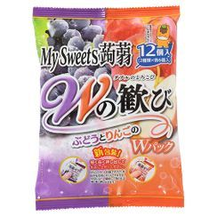 Three O'Clock - Shimonita My Sweets Konnyaku Jelly Grape & Apple Flavor