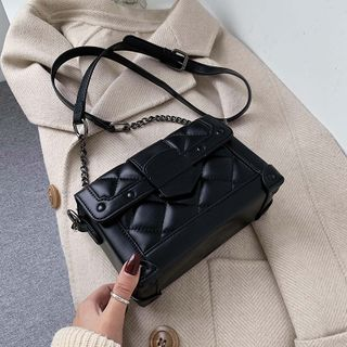 JAMEL - Quilted Faux Leather Crossbody Bag
