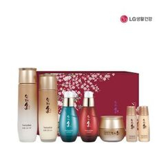 Sooryehan - Bichaek Ginseng Special Gift Set: Toner 150ml + 25ml + Emulsion 130ml + 25ml + Cream 30ml + Pore Ampoule 35ml + Wrinkle Ampoule 35ml