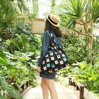 BABOSARANG - Drawstring Canvas Shoulder Bag
