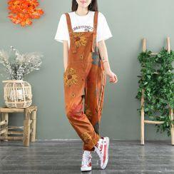 Aigan - Floral Straight Leg Jumper Pants