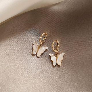 INKGLOW - Mother-Of-Pearl Butterfly Dangle Earrings