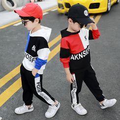 PAM - 小童套装: 字母连帽衫 + 九分哈伦裤