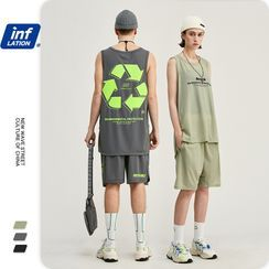 Newin - Unisex Printed Tank Top / T-Shirt / Shorts