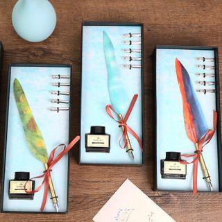 Setaria - Set: Feather Fountain Pen + Nib + Ink