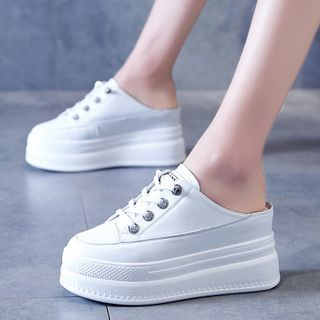 Wello - Lace Up Platform Slip Ons