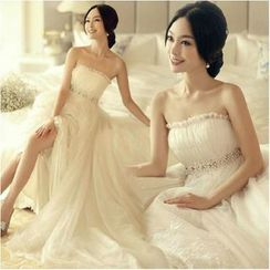 Sennyo - Maternity Strapless A-line Wedding Gown with Train