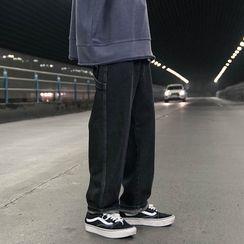 Soulcity - 縫線寬腿牛仔褲