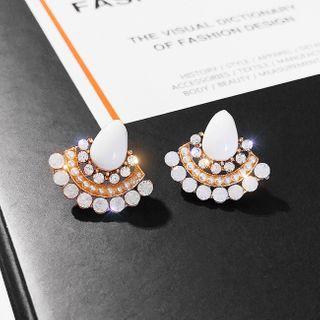 LIVSIA - Rhinestone Shell Earring