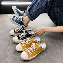 Solejoy - 帆布木乐休閒鞋