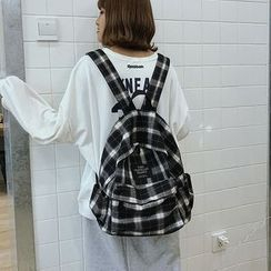 Sosara - Plaid Canvas Backpack