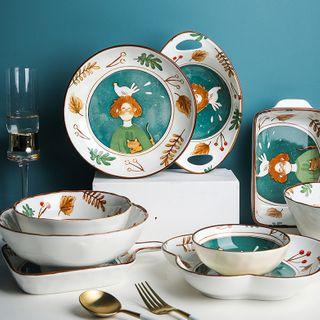 Chrysalis - Printed Ceramic Bowl / Plate / Baking Tray