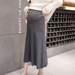 Empressa - Maternity High-Waist Midi A-Line Skirt