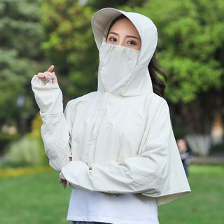 Allium - Long-Sleeve Hooded Sun Protection Cover-Up